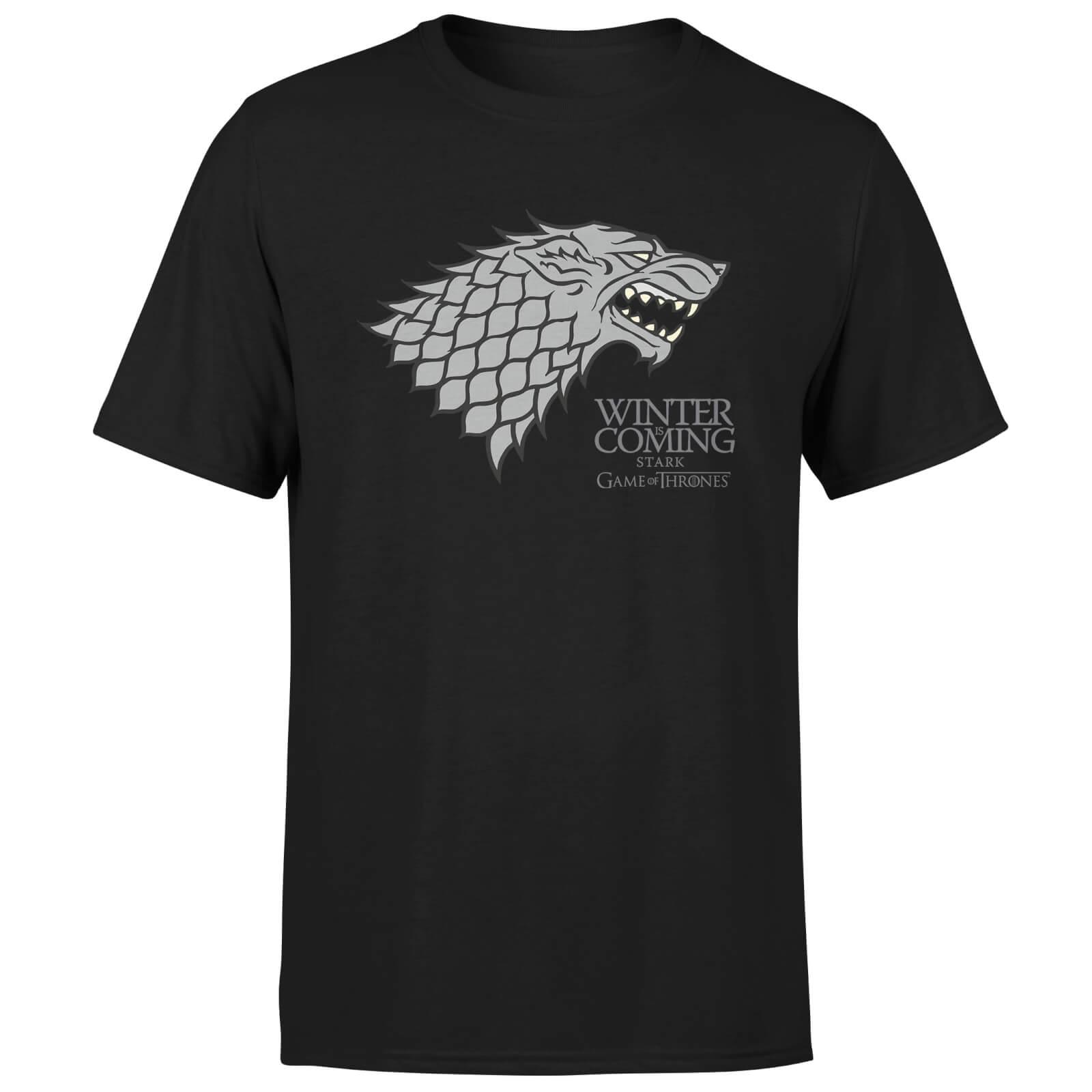 Game Of Thrones Stark Winter Is Coming Men S Black T Shirt