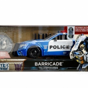 Transformers Last Knight 1:24 Vehicle with Coll. Coin Case Barricade with Coin