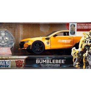 Transformers Last Knight 1:24 Vehicle with Coll. Coin Case Bumblebee with Coin