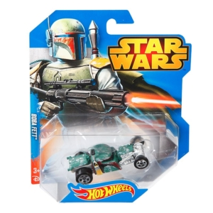 Hot Wheels Star Wars Character Car 1/64th Scale Die-Cast Boba Fett