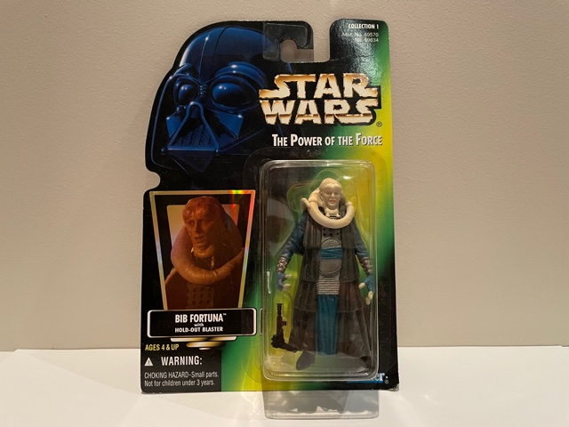 Star Wars Power of the Force (II) Bib Fortuna with Hold-out Rifle